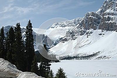 Montañas Y Glaciar Americanos De Nnorth