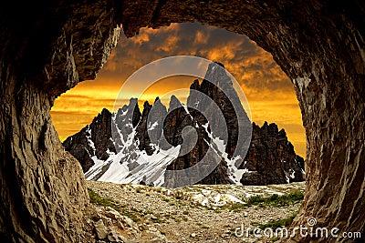 Montañas de la dolomía, Italia