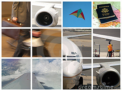 Montage of Business travel