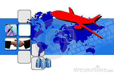 Montage on business travel