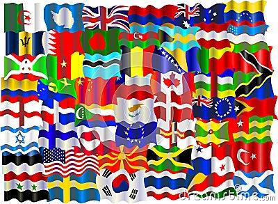 Montagem da bandeira
