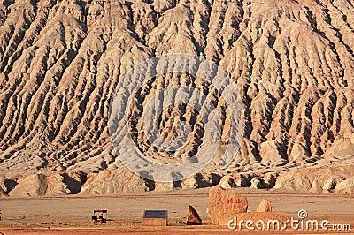 Montagne flamboyante à Turpan