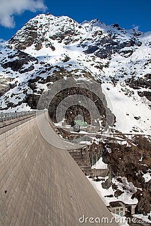 Montain dam