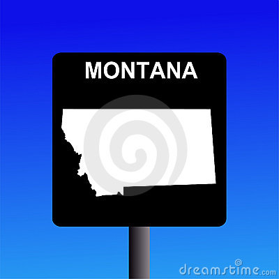 Montana highway sign