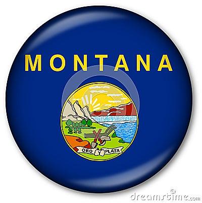 Montana State flag button