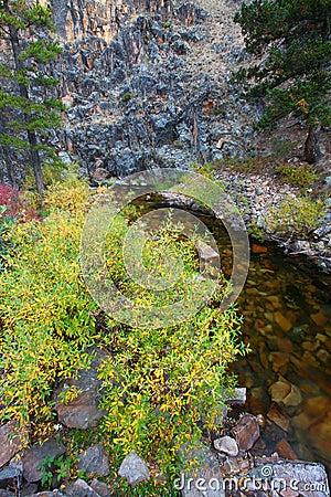 Free Montana Stream And Rocky Cliffs Royalty Free Stock Photo - 112080845