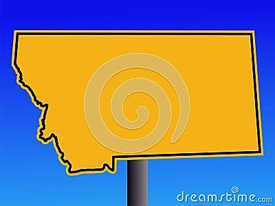 Montana warning sign