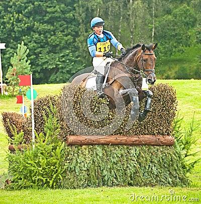 Montar a caballo del cerero de Emilie para Gran Bretaña en Blair Imagen de archivo editorial