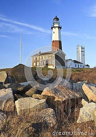 Free Montauk Lighthouse Boulders Vertical Stock Photos - 19435323
