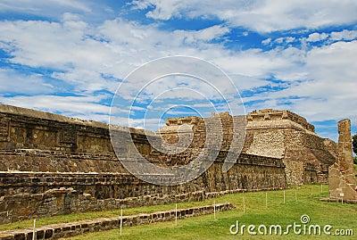 Monte Alban zapotec ancient ruins, Oaxaca, Mexico
