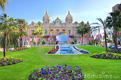 Monte Carlo Casino. Editorial Stock Image
