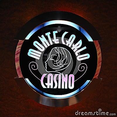 Monte Carlo Casino logo Editorial Photography