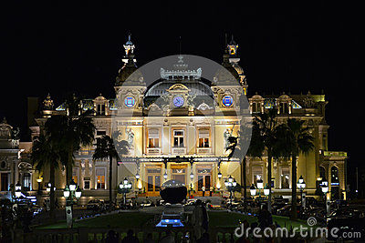 Monaco Casino by Night (Monte Carlo Casino) Editorial Stock Image