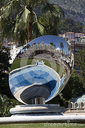 Monte Carlo - Sky Mirror - Monaco Editorial Photo