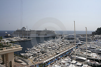 Monte Carlo Yacht show Editorial Stock Image