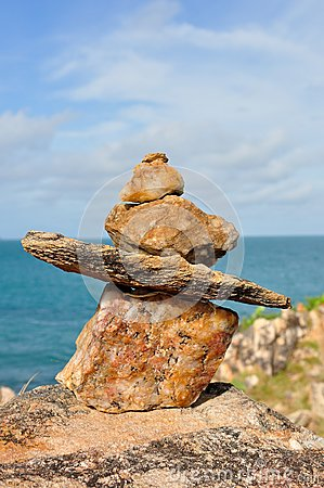 Monte de pedras de pedra