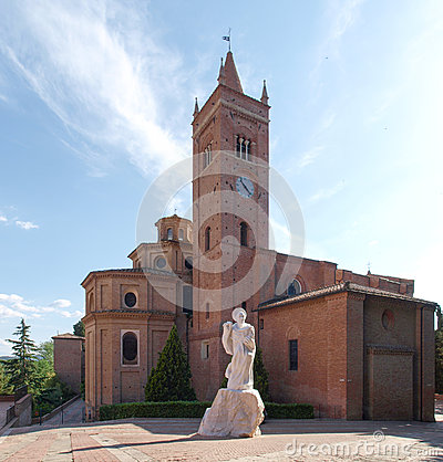 Free Monte Oliveto Maggiore Abbey Royalty Free Stock Photos - 39968068