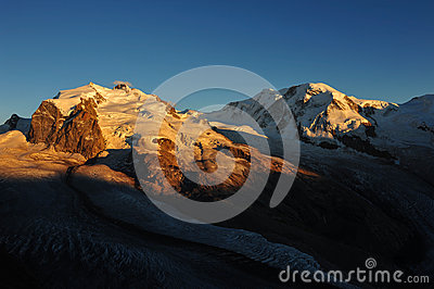 Monte Rosa and Liskamm