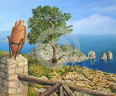 Monte Solaro on island Capri