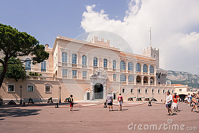 Montecarlo Prince s Palace - Monaco Editorial Photography