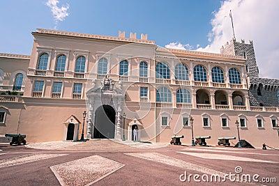 Montecarlo Prince s Palace - Monaco Editorial Stock Photo