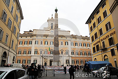 Montecitorio Editorial Stock Photo
