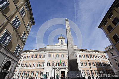 Montecitorio Palace in Rome Editorial Photography
