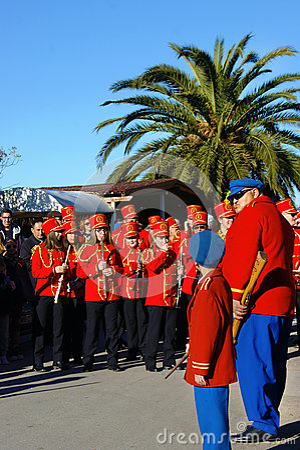 Free Montenegro, Kumbor - 02/06/2016:City Orchestra And Arrows. Stock Image - 67167131