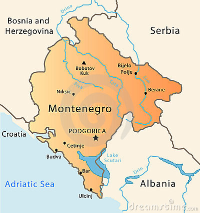 Free Montenegro Map Royalty Free Stock Photo - 8527565
