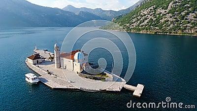 Montenegro, tiro do ar da baía vídeos de arquivo