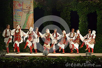 Montenegro traditional dance at outdoor stage