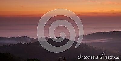Montepulciano Dawn, Italy