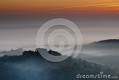 Montepulciano Sunrise, Italy
