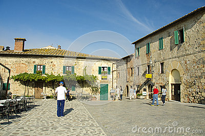Monteriggioni Tuscany Editorial Stock Photo