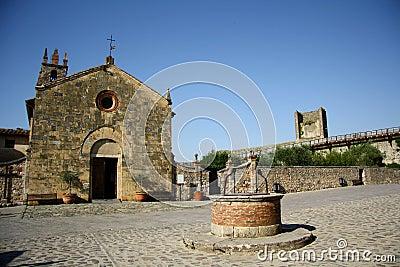 Monteriggioni (Tuscany, Italien)