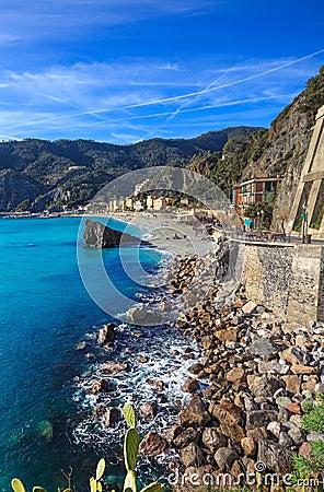 Free Monterosso Beach And Sea Bay. Cinque Terre, Liguria Italy Stock Photos - 29606933