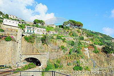 Monterosso village on Ligurian seashore
