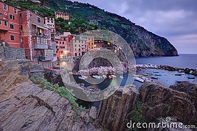 Monterosso village in twilight