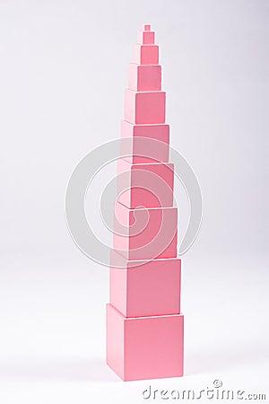 Free Montessori Pink Tower Royalty Free Stock Image - 30380006