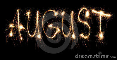 Month august sparkler