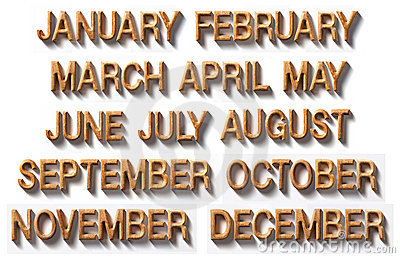 Monthly by wooden
