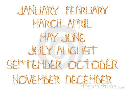 Monthly by wooden mannequin