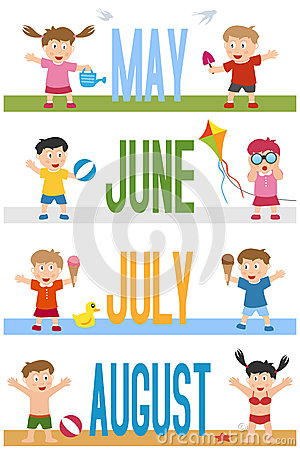 Free Months Banners With Kids [2] Stock Photo - 28023710