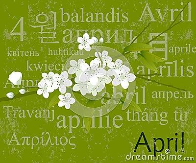 Months Concept  April