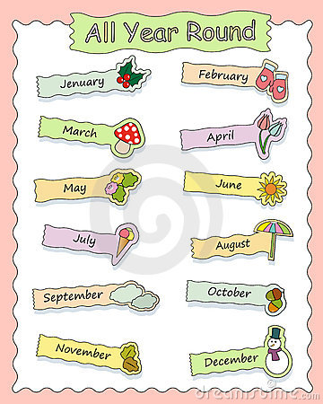 Months icons