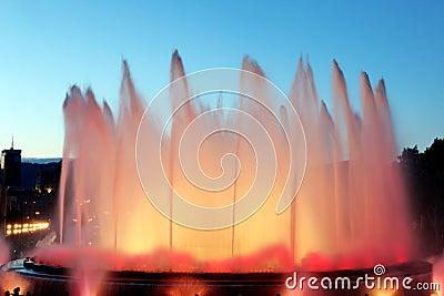Montjuic Fountain in Barcelona, Spain
