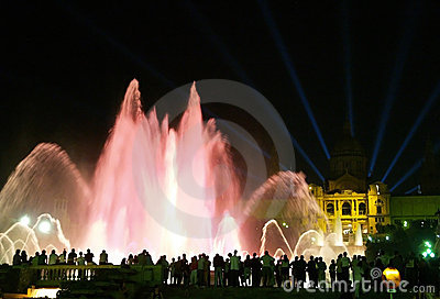 Montjuic (magic) fountain in Barcelona #12