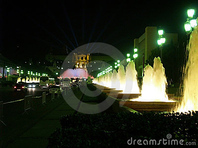 Montjuic (magic) fountain in Barcelona #16