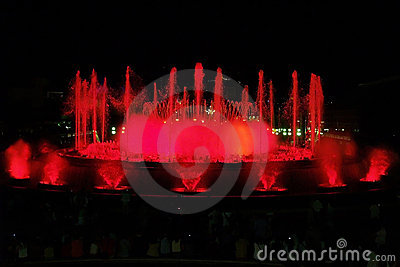 Montjuic (magic) fountain in Barcelona #2