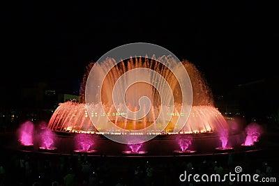 Montjuic (magic) fountain in Barcelona #5